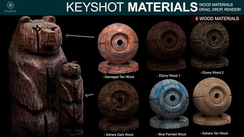 Wood Materials for Keyshot
