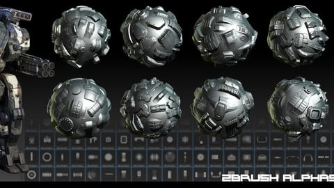 Zbrush Alphas Robots