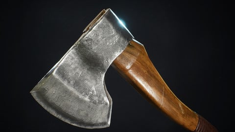 Game-ready Forest Axe Prop