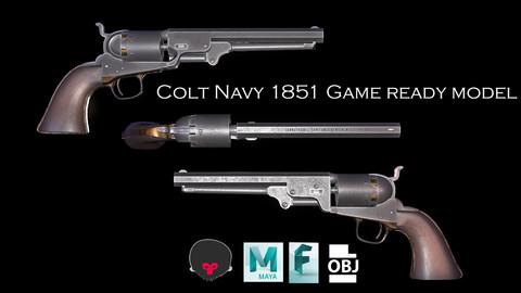Colt Navy 1851 Game ready Pistol Gun model
