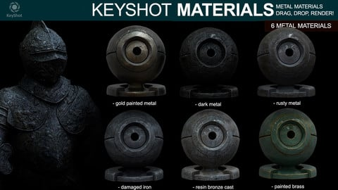 Metal Materials for Keyshot (Part 2)