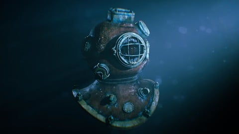 Diving Helmet Realtime Model