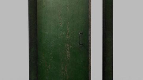Interroom door with frame