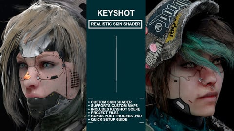 Realistic Skin Shader for Keyshot