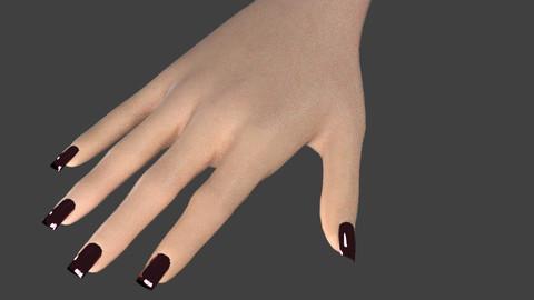 nail and hand