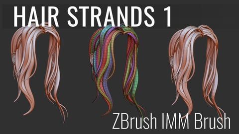 ZBrush Hair Strands, Insert Multi-Mesh Curve Brush.