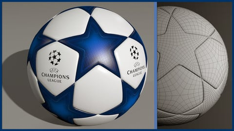 UEFA Champions League Ball 3D Model