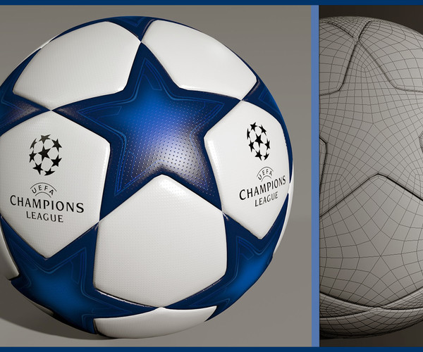 artstation uefa champions league ball 3d model resources artstation uefa champions league ball 3d model resources