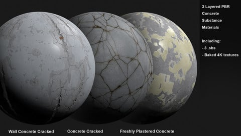 3 Concrete Customizable Materials