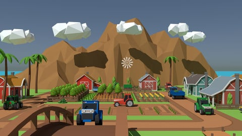 SimplePoly Farm - Low Poly Assets