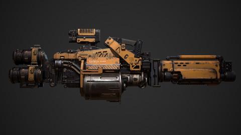 Next-Gen Game Sci Fi Weapon