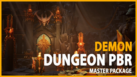 PBR Demon Dungeon Asset Pack - Full package UE4 & UNITY