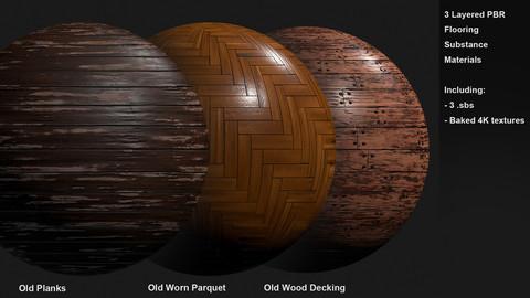 3 Flooring Customizable Materials