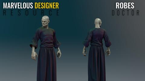 Robes - Plague Doctor - Marvelous Designer Resource