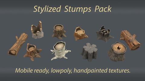 Stylized stumps pack