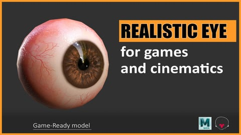 Realistic Eyes - For games and cinematics