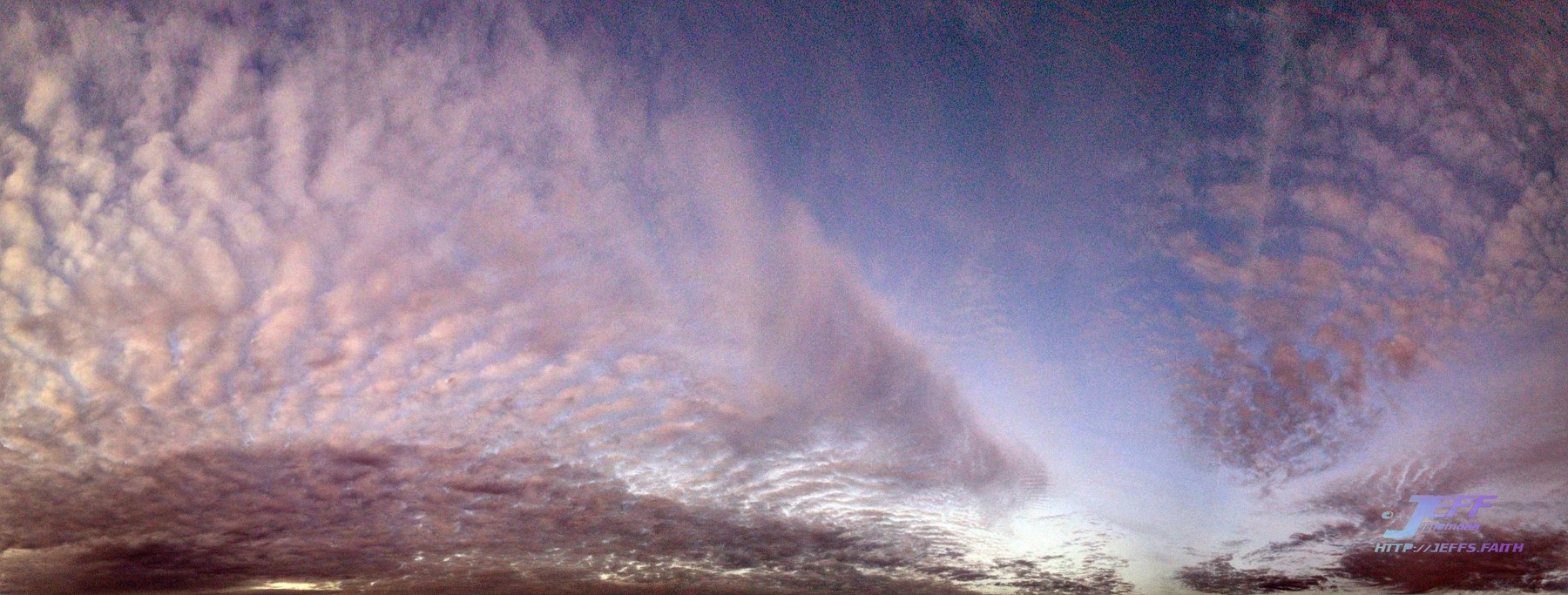 Cold Twilight Cloudscape