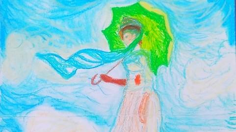 Inspiração Monet, Mulher com Sombrinha - Paloma Portal