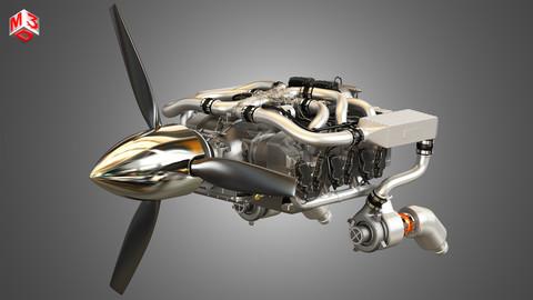 Continental IO 550 Engine 3D model