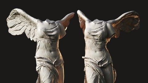 Winged Victory of Samothrace / Sculpture / 3D model