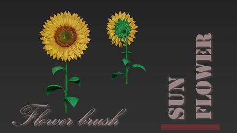 Sunflower flower brush for Zbrush