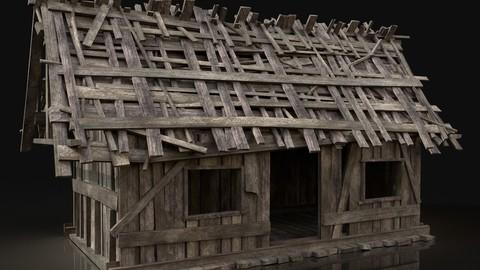 Simple Wooden Swamp Hut