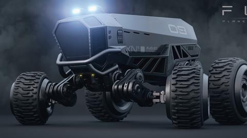 Fury - planetary roamer - sci-fi cyberpunk truck 3D model
