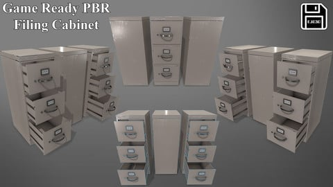 Game Ready PBR Filing Cabinets