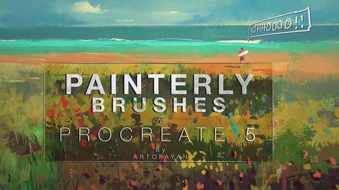 PAINTERLY BRUSH-SET - 39 custom brushes for Procreate 5