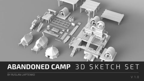 Abandoned Camp - 3D Sketch Set