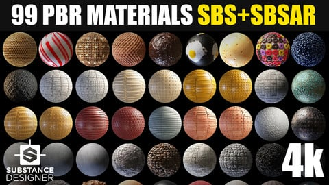 99 PBR Substance Designer Materials