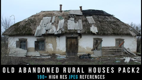Old abandoned rural houses Pack 2
