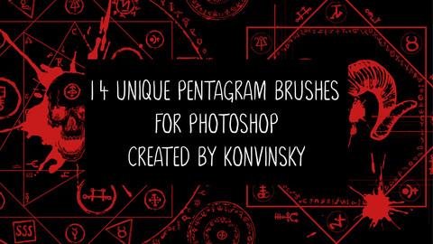 14 Pentagram Brushes for Photoshop