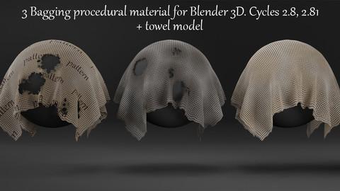 Bagging Fabric, Burlap Procedural Material For Blender 3d. Cycles 2.92