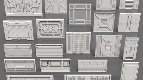 Sci-Fi Panels - 20 pieces - Collection - 1