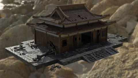 Game Ready PBR Ancient Temple Ruins