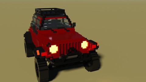 Voxel Jeep Wrangler