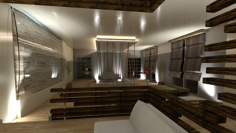 3D Revit model Small studio interior design