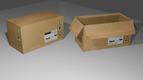 Cardboard Box - Package - Caixa de Papelao