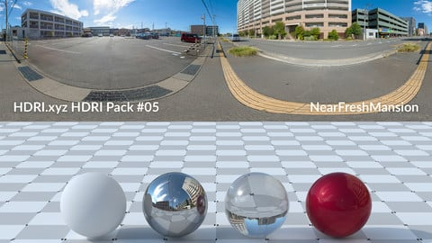 NearFreshMansion - 20K 32bit HDRI Spherical Panorama (from Pack #5)