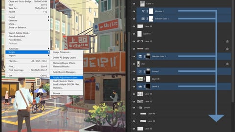 Apply Adjustment Layers 2.0 Script for Photoshop