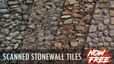 Photogrammetry Tile Textures - Stonewall Pack 01 - Now Free!