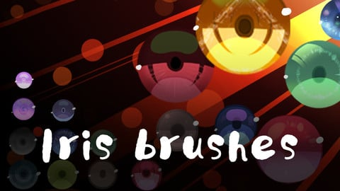 【Free brush】Free cartoon eye / iris brush and PNG image