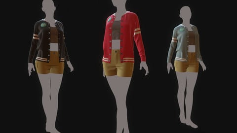 Women Sweater Outerwear - Marvelous Designer and Clo3D