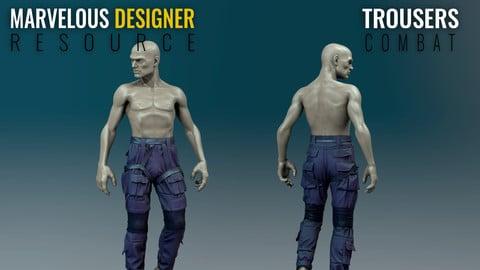 Trousers - Combat - Marvelous Designer Resource