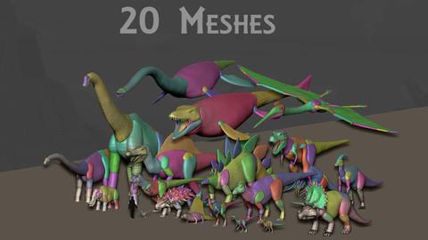 3D Creature Blockout - Prehistoric Pack