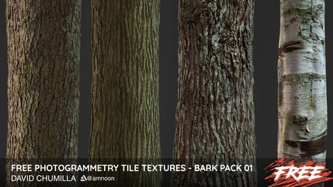 Photogrammetry Tile Textures - Bark Pack 01 - Free!