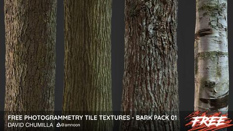 Photogrammetry Tile Textures - Bark Pack 01 - Free!