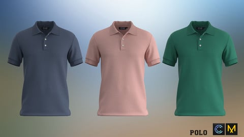 Polo Shirt, Marvelous designer, Clo3d