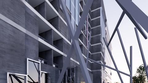 Revit 3 Stars Hotel 2018 3D model